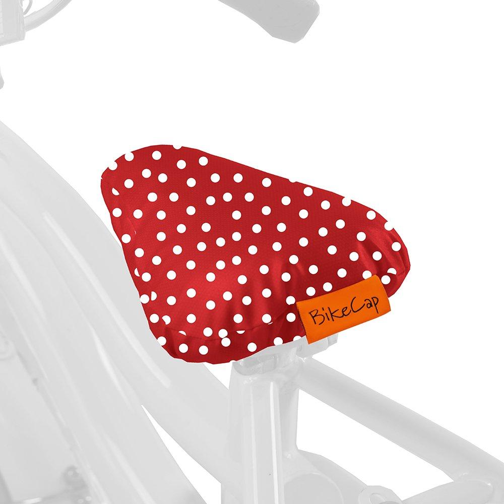 BikeCap Sattel/Ã/¼berzug Kids rot//wei/Ã/Ÿe Punkte