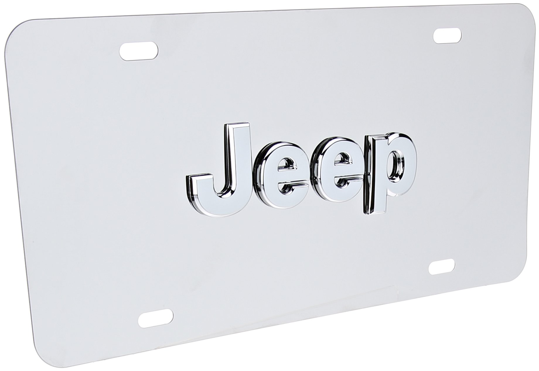 Pilot Automotive LP-130 Stainless Steel 3-D License Plate (ABS Plastic Decal, Officially Licensed Jeep) by Pilot Automotive (Image #1)
