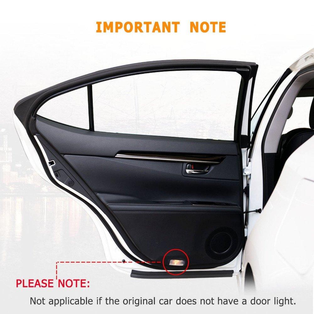 Benz New S AMG logo DEFOV T/ürbeleuchtung Einstiegsleuchte,Autot/ür Licht 3D Logo