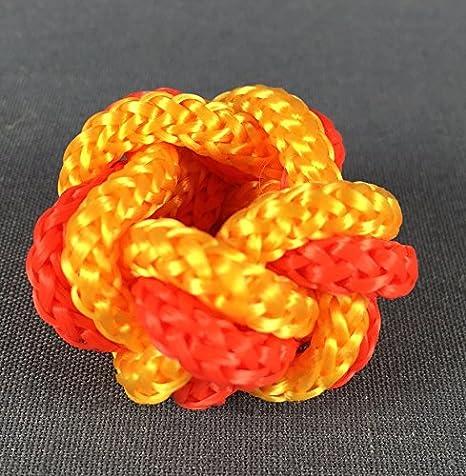 Macramé nudos naranja/negro y amarillo pañuelo: Amazon.es: Juguetes y juegos