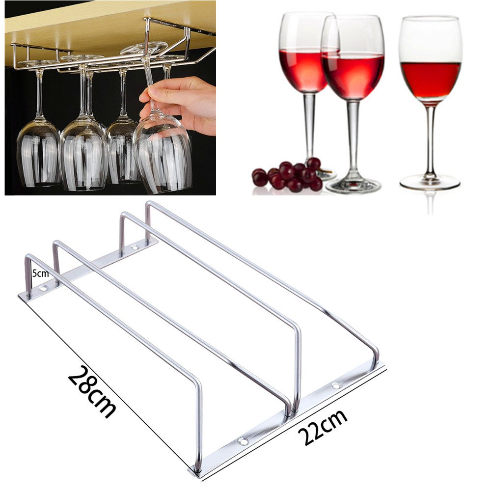 AIHOME™ Double rack Glass Hanger Glass Holder Glassware Stemware Wine Glass Champagne Glass Rack Kitchen