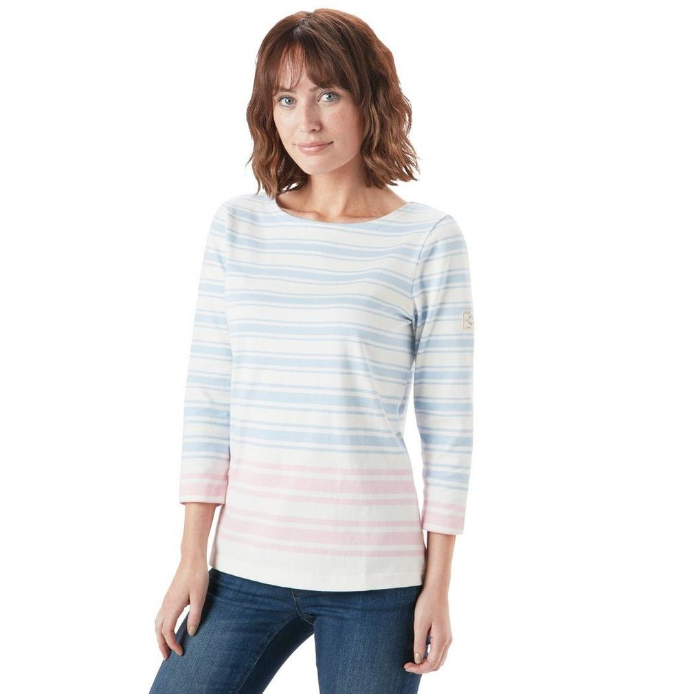bluee and Pink Stripe Joules Women's Harbour Tee