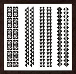 Polynesian Warrior Band Temporary Tattoos / Pack of 2 Sheets - 8 Double Bands Total