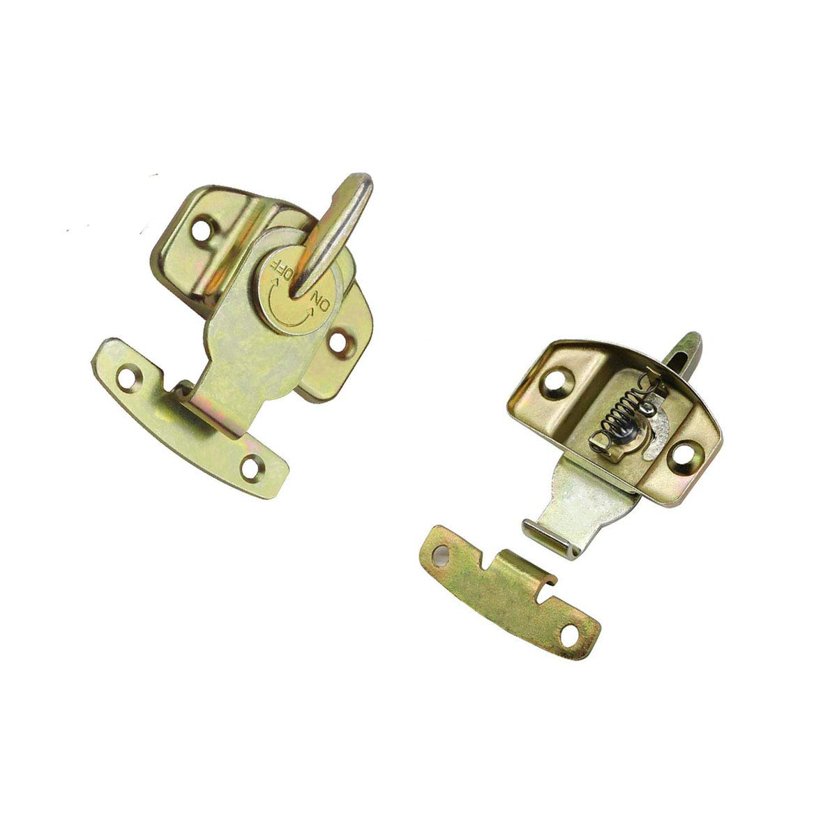 6 Pieces Metal Table Locks Oneup Brass Dining Training Table Buckles Connector Drawer Cabinet Hardware Accessories with Screws