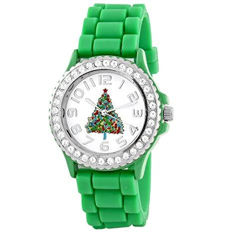 Amazon.com: Christmas Watch Set Three (Red-Green-Black) Xmas ...