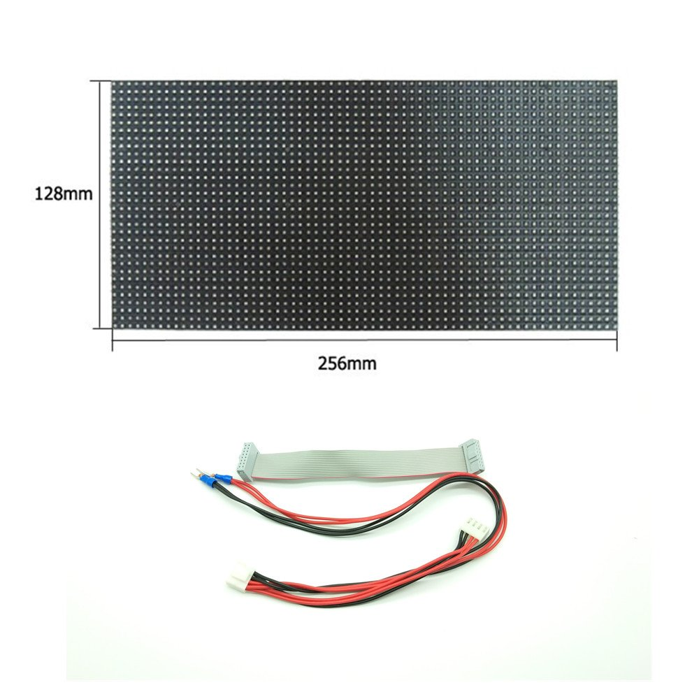 Lumen Indoor P4 Rgb Led Display Module 256128mm 32x64 Pixel 8x8 Matrix Wiring Programmable Full Color Panel 1 16 Scan Sign Accessories For Assembling Repairing