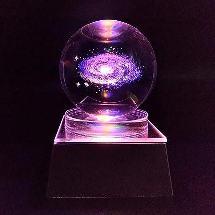 JINGDIAN Crystal LED Galaxy W/Multicolor Lamp Light Ball