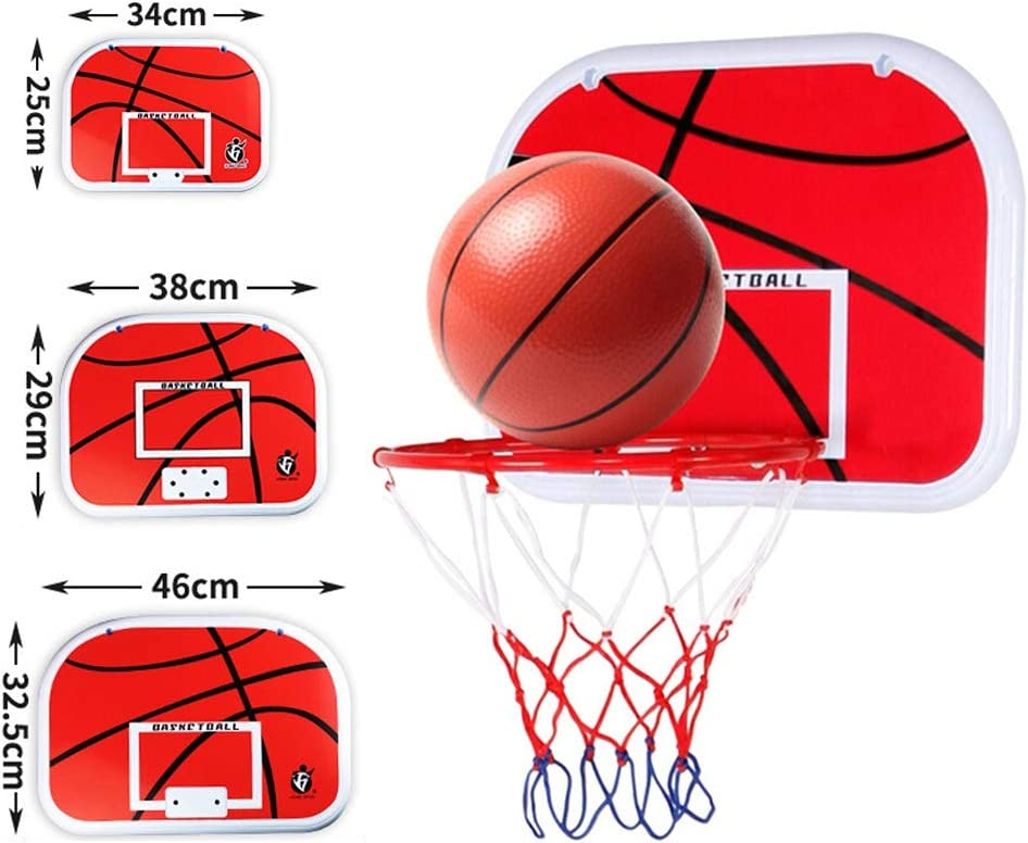 Folding Portable Basketball Boards Hanging Stand with Net Kids Indoor Outdoor Sport Game Baywell Basketball Hoop Set for Children
