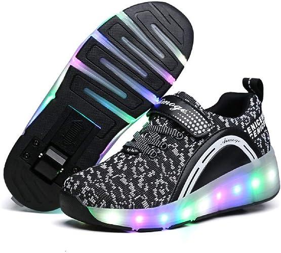 SDSPEED Kids Roller Skate Shoes with Single Wheel Shoes Sport Sneaker LED