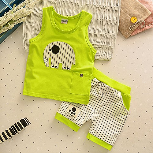 0b41d3b9f JoJo Home 2pcs Kids Baby Boy Toddler Cute Summer Cotton Vest Tops+ ...
