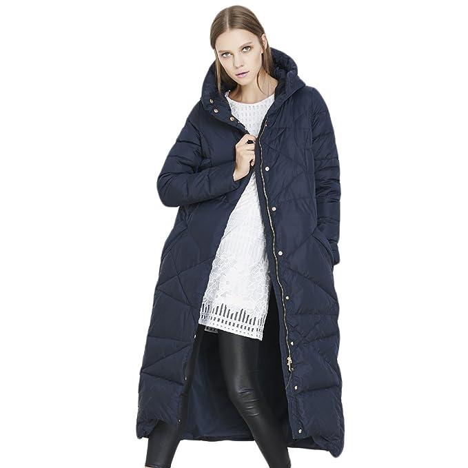 WIDEN ELECTRIC mujeres largo abajo chaquetas Europea ropa de abrigo de  invierno Outwear Super cálido lujo ef3ec133de7