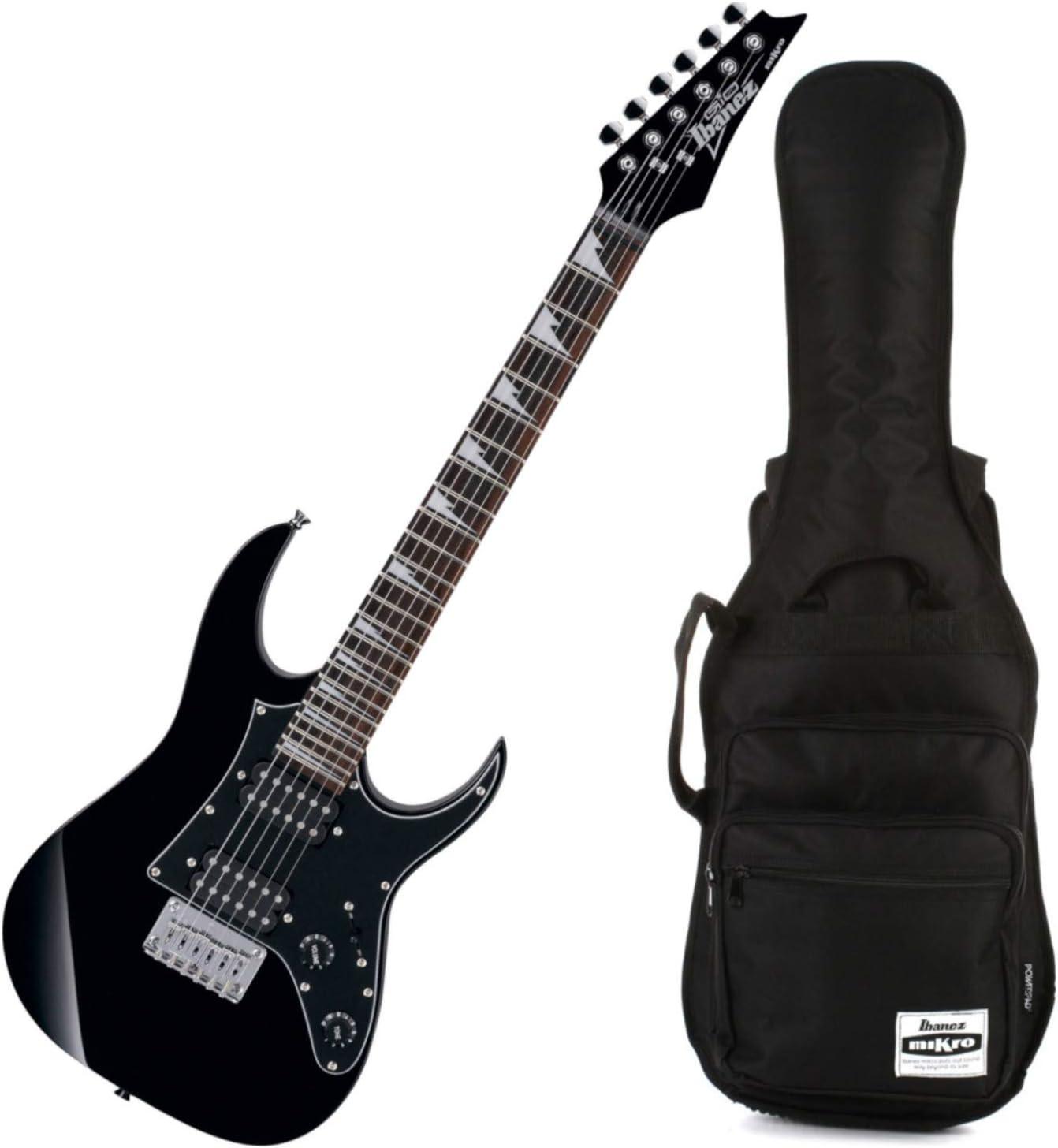 Ibanez GRGM21 GRG Mikro Electric Guitar Junior Mini Black Night w//Ibanez Bag