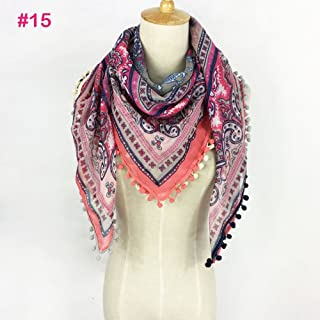 Shop 6 Scarf Shawl, Scarf silkScarf Shawl Summer Spring Print Fashion Fringe Scarf Women,7