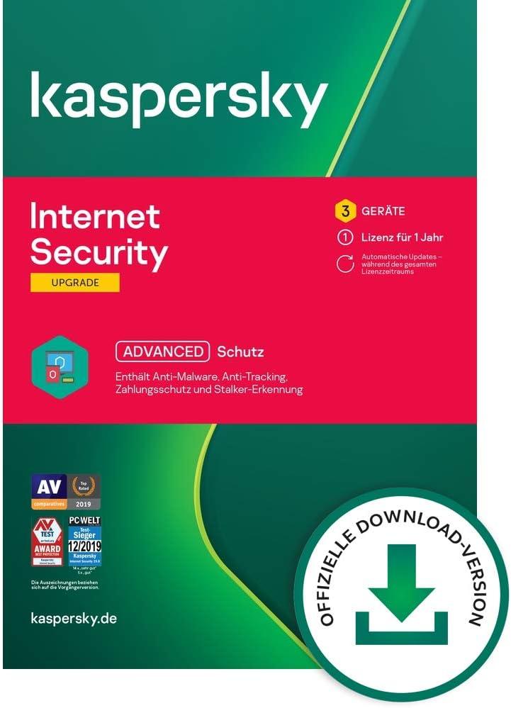Kaspersky Internet Security 2021 Upgrade | 3 Geräte | 1