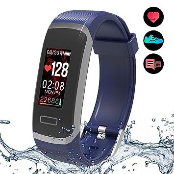Pulsera de Actividad,Smartwatch Yakuin Reloj Inteligente Wearables Deporte Pulsera Inteligente Impermeable IP67 Pantalla táctil