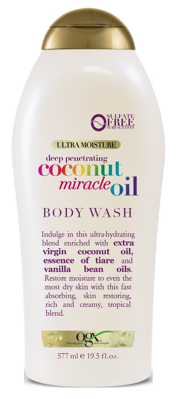 Ogx Body Wash Coconut Oil Miracle 19.5 Ounce (577ml) (6 Pack)