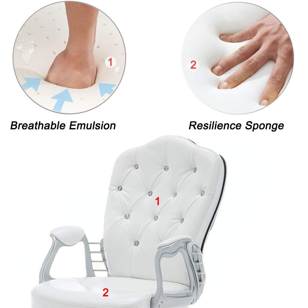 Svängbar stol datorstol hem kontor stol personalstol arbetsrum stol studentstol läderstol med emulsionssvampar ergonomisk design, brun Bronsfärg