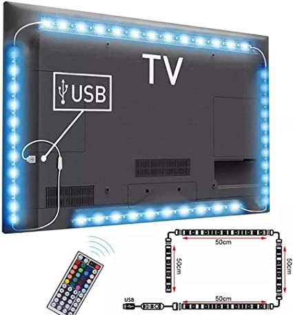 Cable USB Banda de luz de Fondo del televisor Tira de luz de Fondo ...