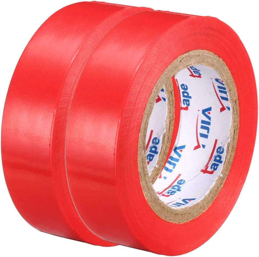 Single Sided 6 mil Thick 5//8 inches Width uxcell Insulating Tape,PVC Electrical Tape Black 39ft Long 5pcs