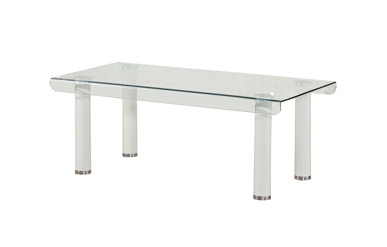 Amazoncom Acme Furniture 83680 Gordias White Coffee Table With