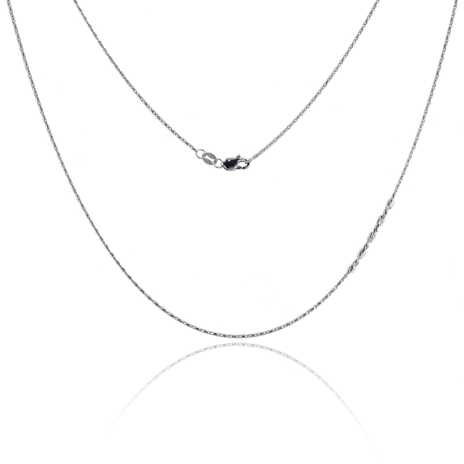 """14k Yellow Gold 0.90mm Polished Curb Link Pendant Chain Necklace 16/"""" 24/"""""""