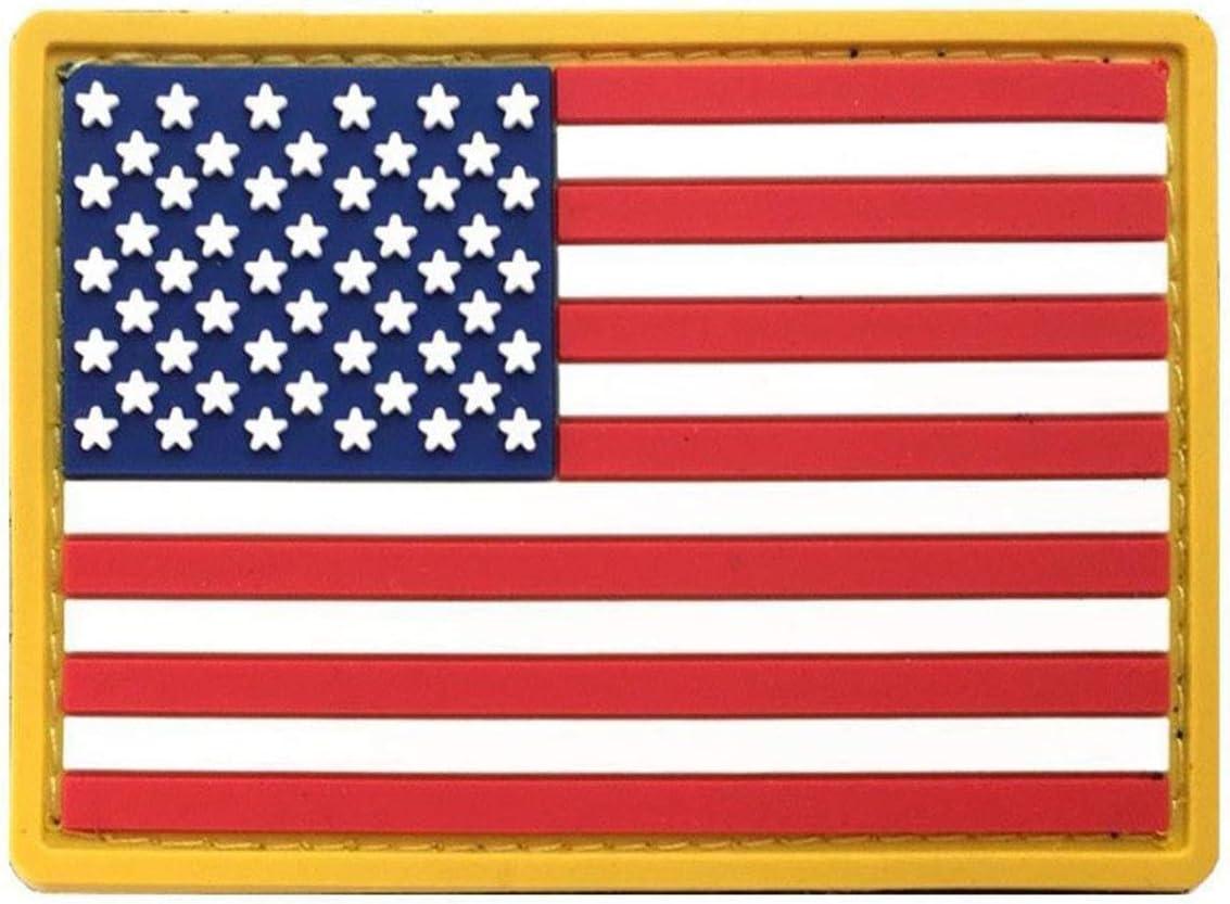 ANGLE Bandera Americana Delgada línea Azul Delgada línea roja de la Bandera de Estados Unidos Parche de la Moral Conjunto 12 Piezas: Amazon.es: Hogar