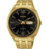 Seiko SNKN48 Recrafted Series Gold Dial Black Dial Watch by Seiko Watches