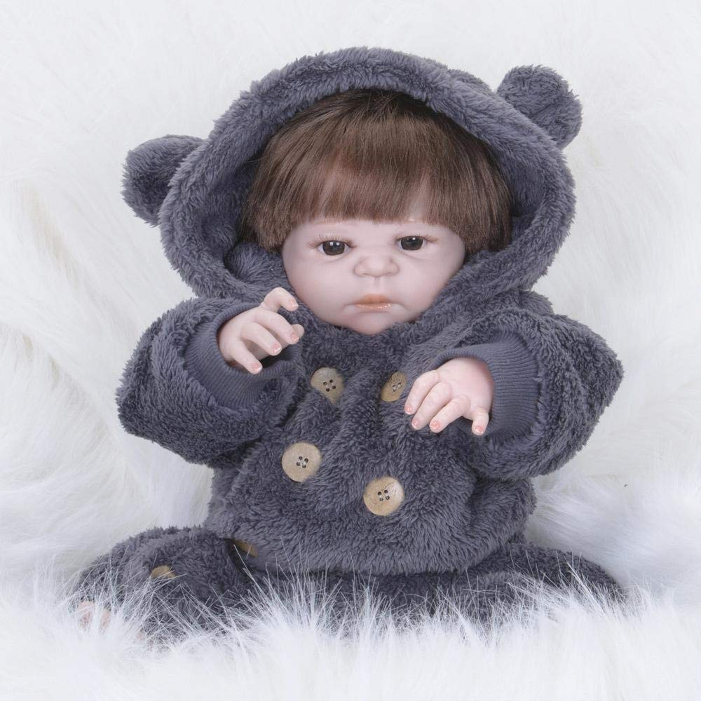 Hongge Reborn Baby Doll,Volle Silikon Vinyl Reborn Baby Puppe Realistische Mädchen Babys Puppen 23 Zoll 58 cm Lebensechte Prinzessin Kinder Spielzeug Kinder Geburtstagsgeschenk