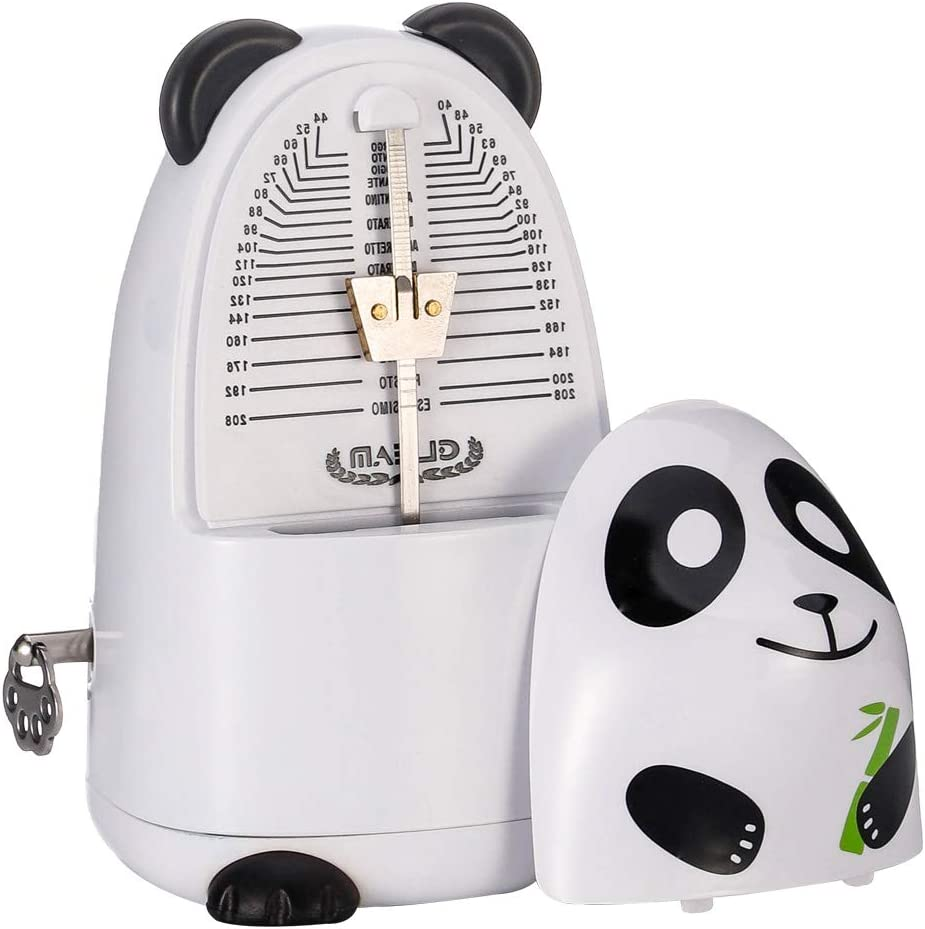 Cartoon Mechanical Metronome for Piano with Bell Black-Panda