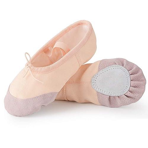 Ballo Adulto Ballerina Per Da Scarpe Ragazze Soudittur Classica Bambina Danza Donna Tela Scarpette QxWeordBC