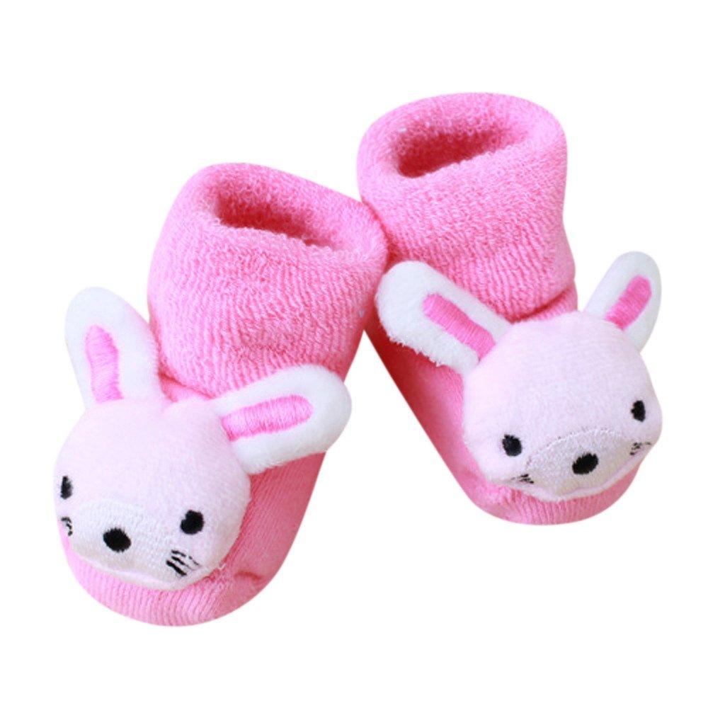Kids Anti-Slip Slipper Socks, Inkach Cartoon Animal Newborn Baby Girl Boy Booties Socks Shoes (B)