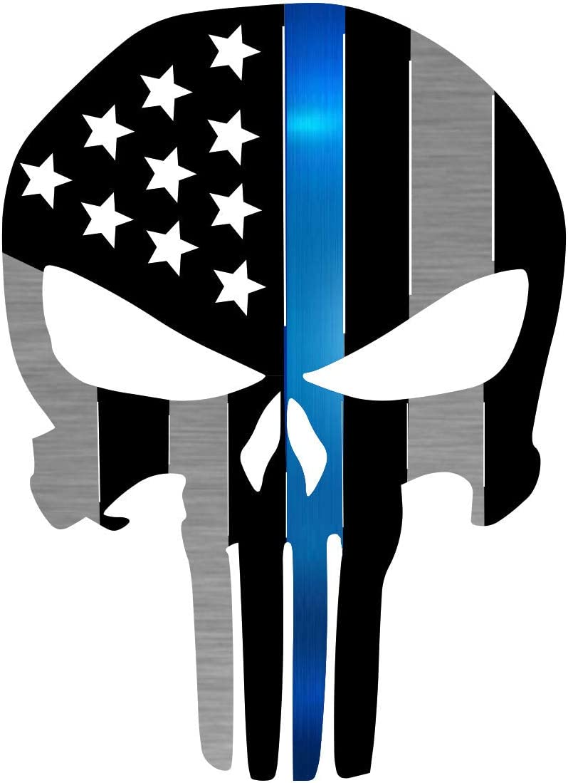 Precision Metal Art Punisher Symbol Steel Laser Cut Wall Art with an American Flag Pattern 24