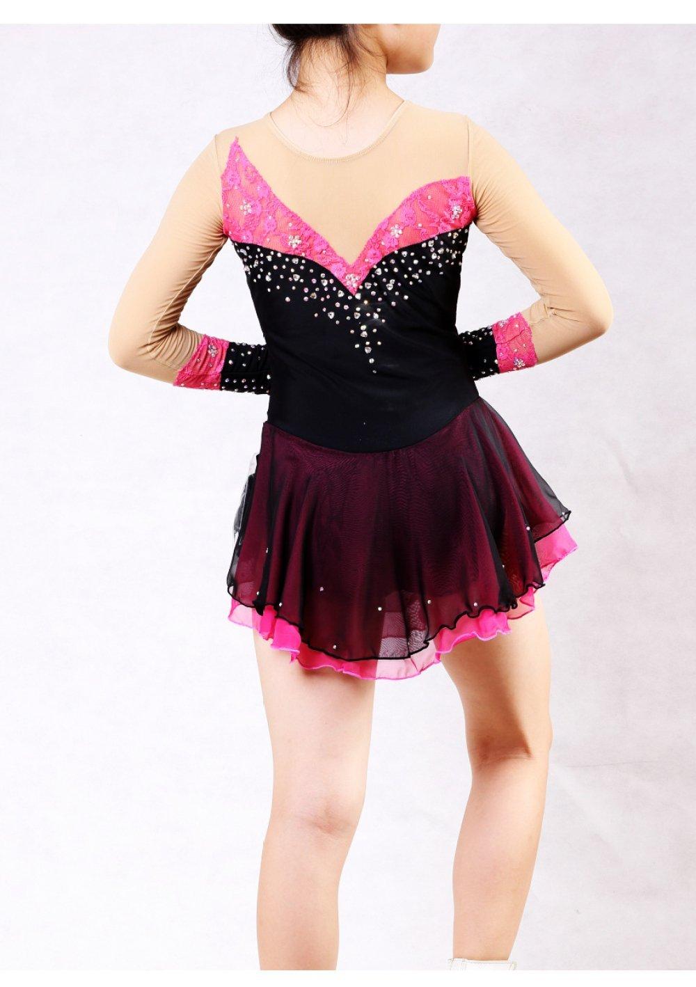 GZHGF Eiskunstlauf Kleid Damen Mädchen Eiskunstlauf Kleid ...