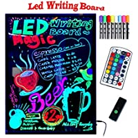 32.4 x 22.2 DIY Flashing Illuminated Erasable Neon LED Message Writing Board with 8-Color Control Signal Display (US STOCK)
