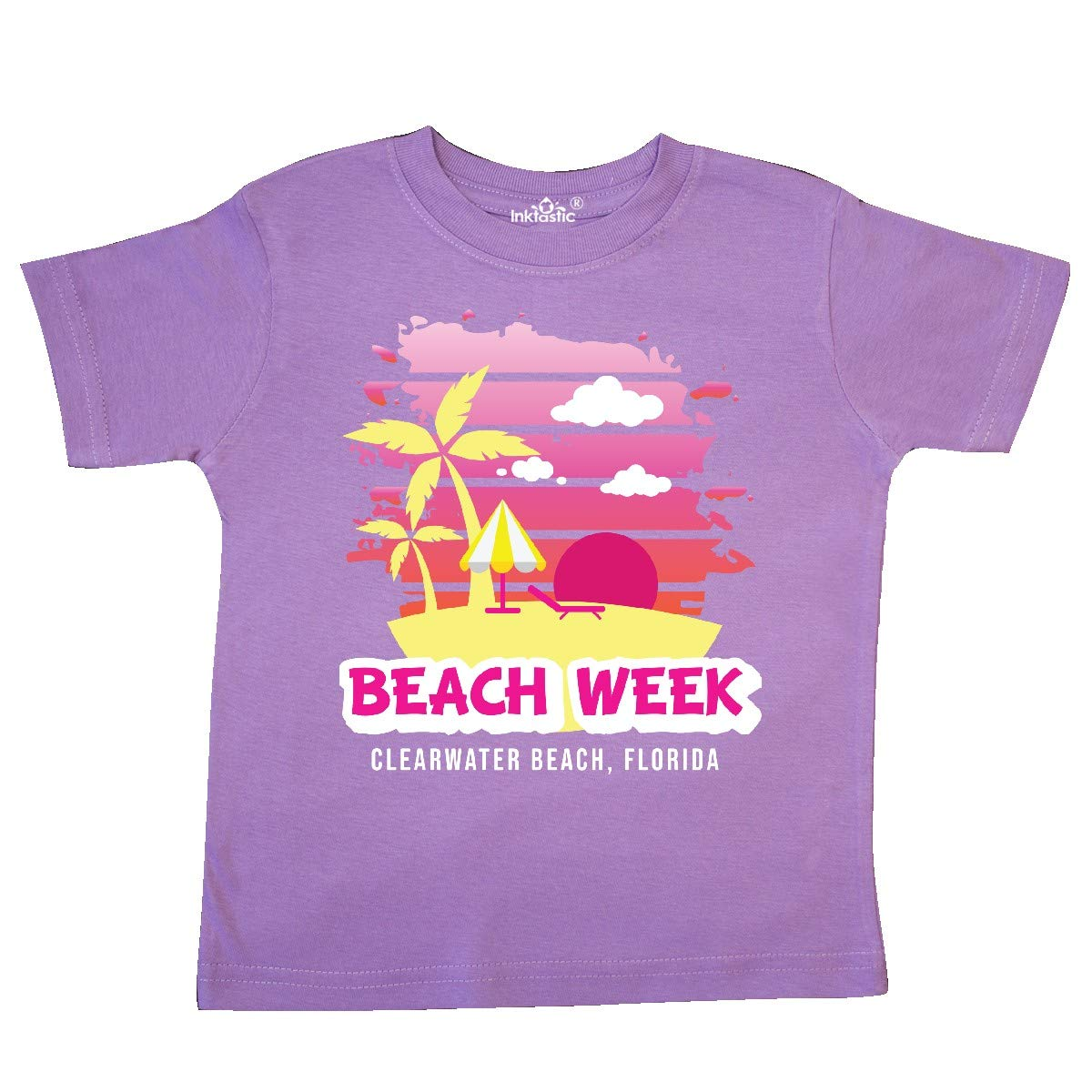 inktastic Beach Week Clearwater Beach Florida with Palm Trees Toddler T-Shirt