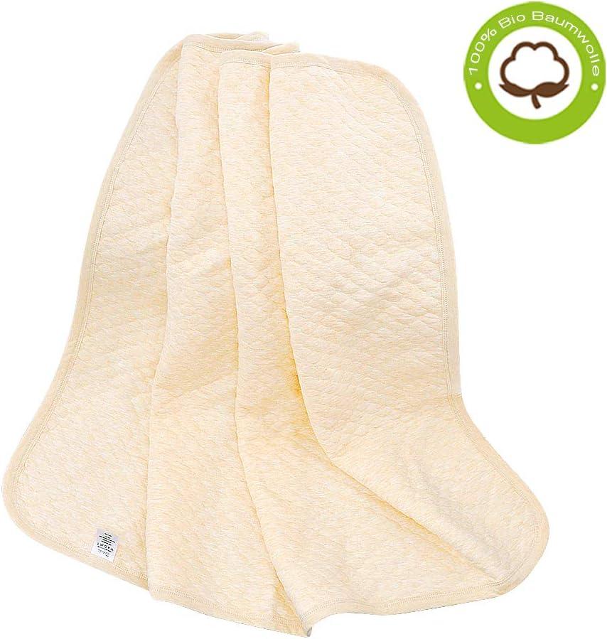 Orange warme Wolldecke Wohndecke Kuscheldecke Tagesdecke dick und leicht atmungsaktive und super weiche gesteppte Kleinkinddecke f/ür Jungen und M/ädchen Babydecke 75x100cm aus 100/% Bio Baumwolle