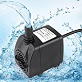 396GPH Submersible Pump with 2.1m Cord, Water Pump for Fish Tank, Hydroponics, Aquaponics, Fountains, Ponds, Statuary, Aquariums & Inline