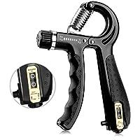 AODOOR Handtrainer, vingertrainer met telfunctie, grip-trainer met extra sterke veer, bereik van 5 kg - 60 kg…