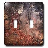 3dRose Uta Naumann Faux Glitter Pattern - Luxury Copper Ombre Gem Stone Marble Glitter Metallic Faux Print - Light Switch Covers - double toggle switch (lsp_269017_2)