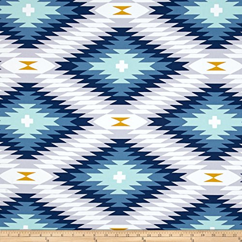 Joel Dewberry Wander Home Decor Sateen Azteca Midnight Fabric By The Yard