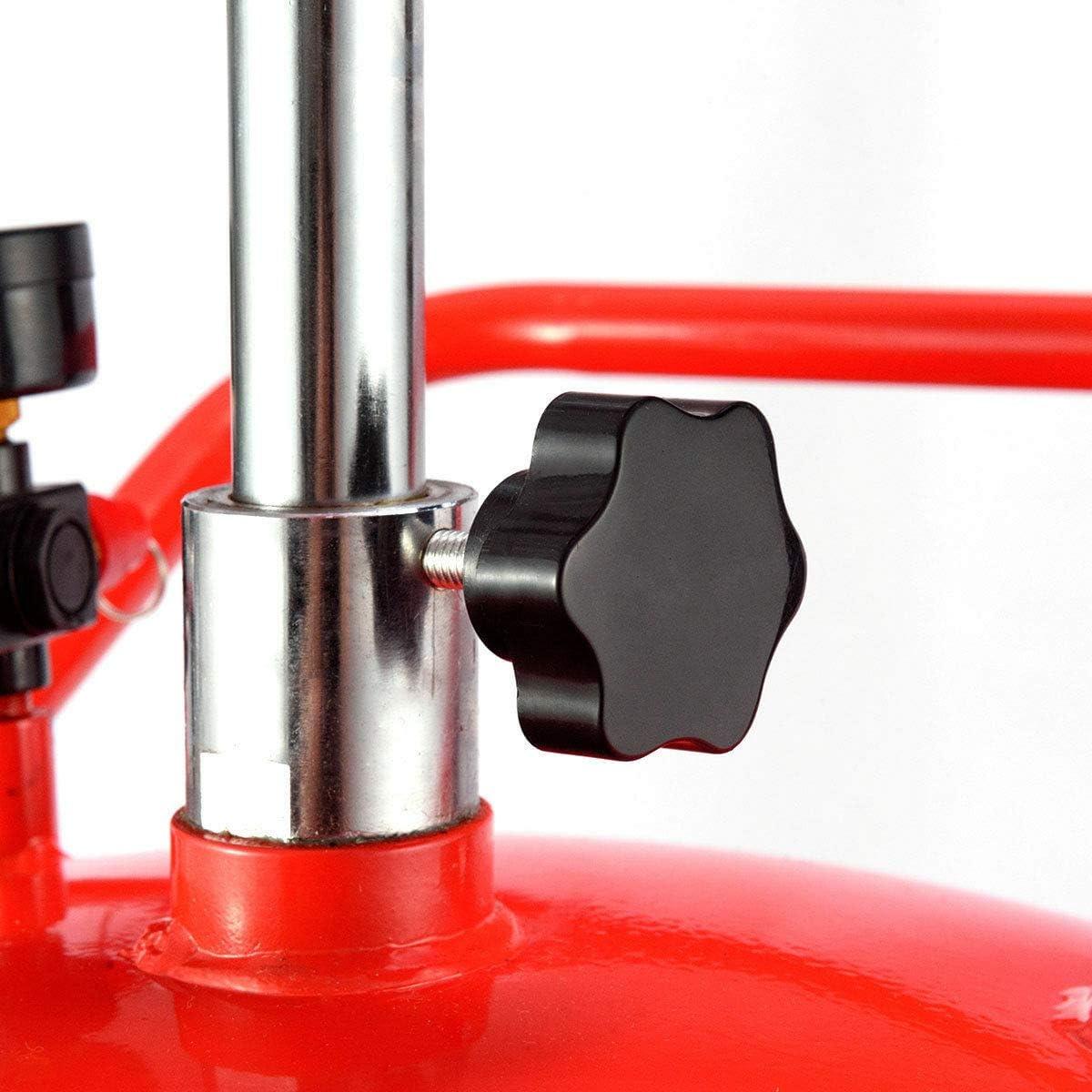 Fuel Transfer /& Lubrication Automotive Hose Operated Adjustable Drainage Lift Tools Equipment Garage /& Shop Fuel Transfer /& Lubrication Waste Oil Drain Tank 20 Gallon Portable Capacity Operate Wheel