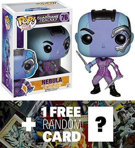 Nebula: Funko POP! x Guardians of the Galaxy Mini Bobble-Head Vinyl Figure + 1 FREE Official Marvel Trading Card Bundle [51778]