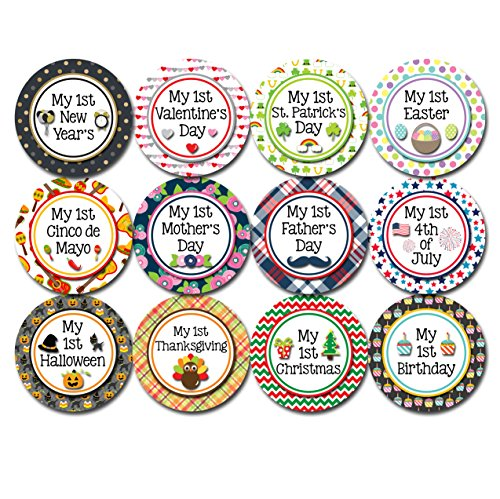 My First Holiday Baby Stickers Milestone Christmas, Birthday, Halloween, Easter, Thanksgiving Baby Sticker Chalkboard (Holiday 2) for $<!--$10.95-->
