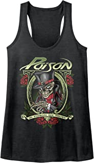 American Classics in Poison We Trust Rock Band Cigar Skeleton Womens Tank Top
