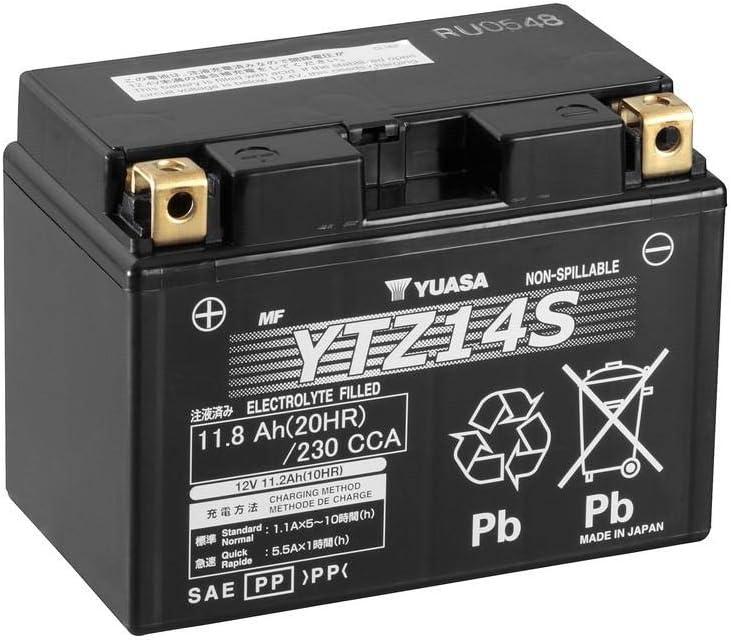 YTZ14S 12V 11.2Ah Yuasa Motorcycle Battery