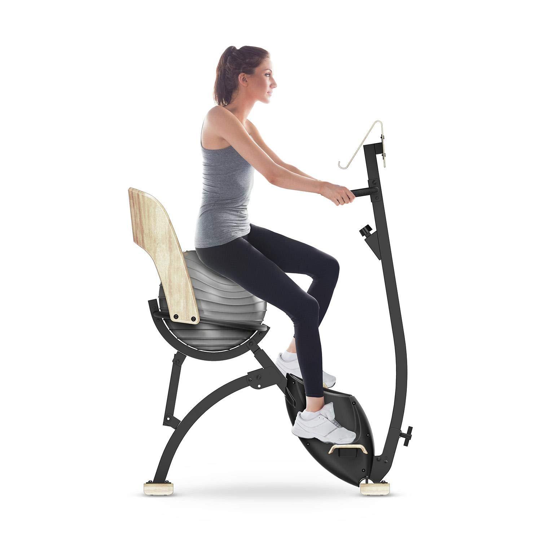 Klarfit Roomik • Heimtrainer & Vibrationsplatte • Hochwertiges Design trifft Sport • Echtholz • Office Cardio • Yoga Bike • Vibrationstrainer
