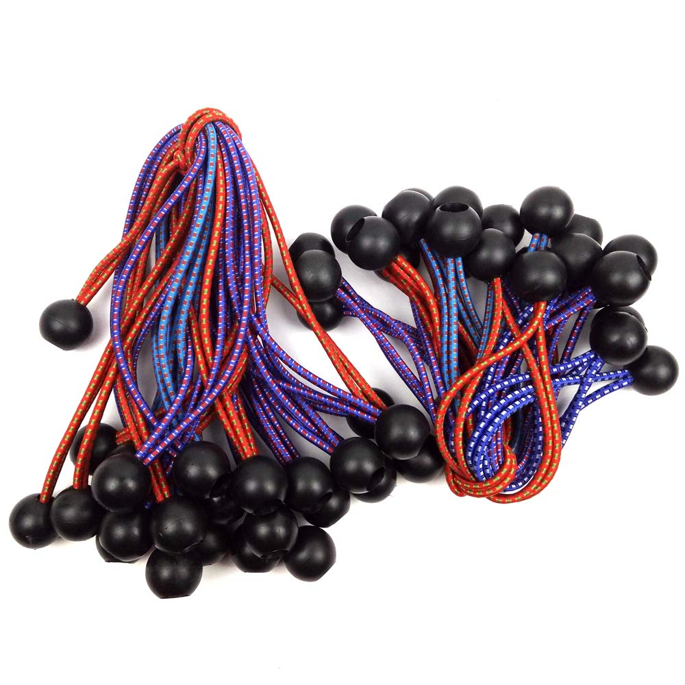 63061 DAJIA 50-pack ball bungee 25 Piece 6inch BALL BUNGEE and 25 Piece 9 inch BALL BUNGEE Canopy Ties tarp ties Bungee Cord /…