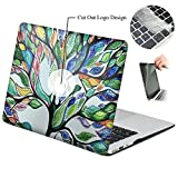 Rinbers 3D Print Art Fashion Rubberized Hard Shell Case Snap-On Top&Bottom Cover Case w/Screen Protector for MacBook Air 11 11.6 inch (Model: A1370 and A1465) – Tree of Life