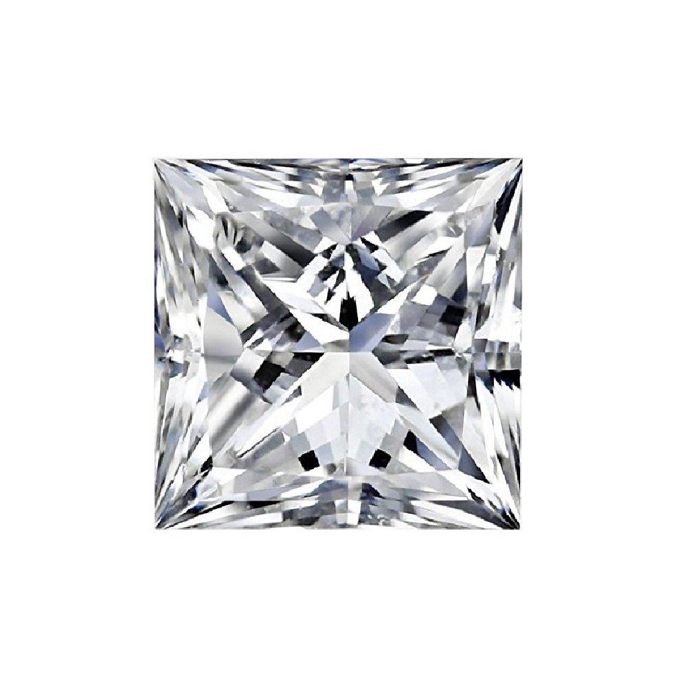 GIA Certified Natural 0.71 Carat Princess Diamond with H Color & VVS2 Clarity