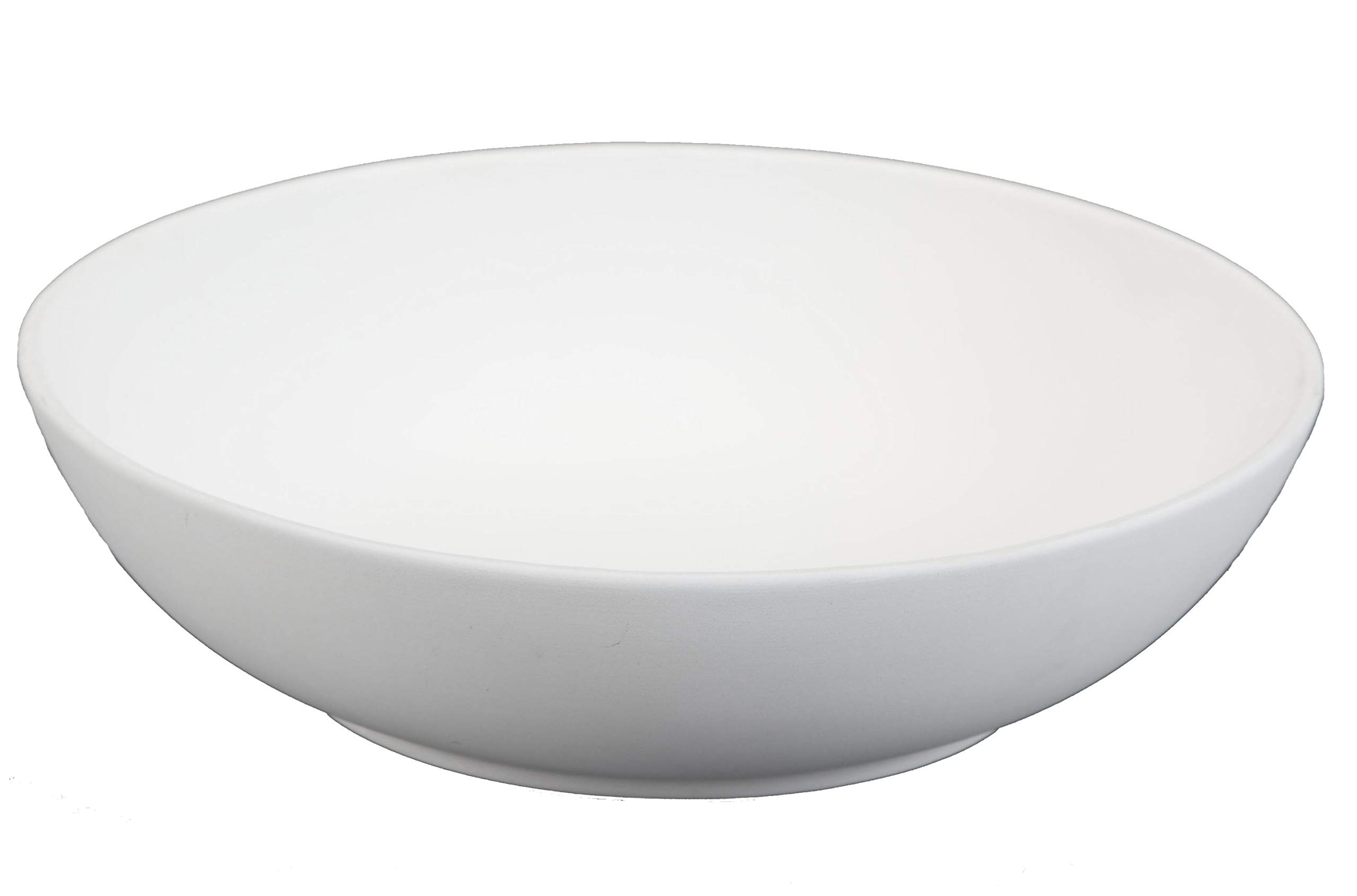 Creative Hobbies 8 Inch Coupe Pasta Bowls, Case of 6, Unfinished Ceramic Bisque, with How to Paint Your Own Pottery Booklet by Creative Hobbies (Image #1)